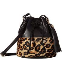 Just Cavalli Cheetah Bucket Bag with Tassel
