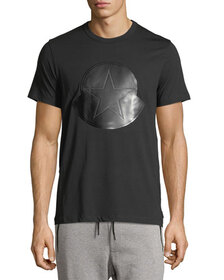 Moncler Leather Logo T-Shirt