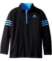 adidas Quarter Zip Pullover Top (Toddler/Little Ki