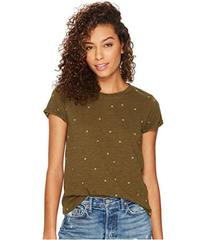 Lucky Brand All Over Embroidered Tee