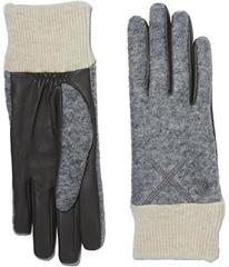 UGG Fabric Smart Gloves with Knit Trim