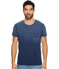 7 For All Mankind Short Sleeve Indigo Raw Pocket C