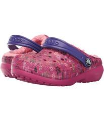 Crocs Kids Classic Lined Graphic Clog (Toddler/Lit