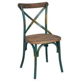 Zaire Side Dining Chair - Antique Turquoise - Acme