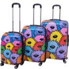 Ed Heck Luggage Sebastian 3 Piece Expandable Hards