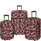 Elite Luggage Print 3 Piece Expandable Rolling Lug