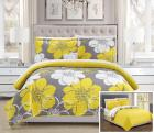 Chic Home 3-Piece Chase Abstract Large Scale Flora