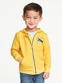 Graphic Zip-Front Hoodie for Toddler Boys