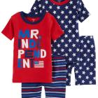 4-Piece 4th Of July Snug Fit Cotton PJs