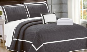 Brandyn Two-Tone Quilt with Sheet Set (6- or 8-Pie