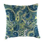 Square 16in. Toss Pillow - Blue/Yellow Paisley