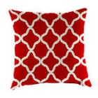 Square 16in. Toss Pillow - Red Moroccan