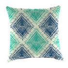 Square 16in. Toss Pillow - Blue Turquoise Diamond