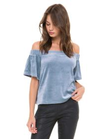 Juicy Couture Velour Off Shoulder Top