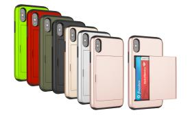 Card-Slot Wallet-Style Protection Case for iPhone