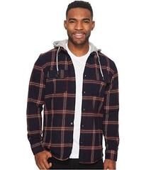 DC Runnel Long Sleeve Hooded Flannel Top