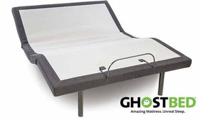 GhostBed Adjustable Power Base with Free GhostPill