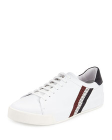 Moncler Remi Perforated Leather Tennis Sneaker, Wh