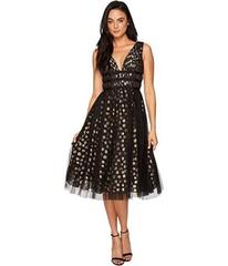 Adrianna Papell Clip Dot Cocktail Dress