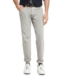 Brunello Cucinelli Five-Pocket Cotton Denim Pants