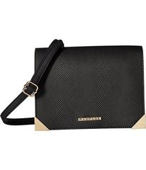 Rampage Mixed Media Crossbody with Faceted Metal C