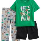 3-Piece Safari Jersey PJs