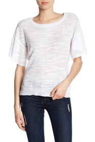Love Scarlett Sheer Flutter Sleeve Tee