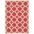 Safavieh Courtyard All-Weather Red/ Bone Indoor/ O