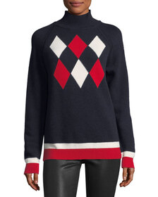 Moncler Maglione Tricot Argyle Hooded Pullover Swe