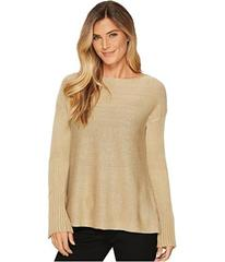 Vince Camuto Ribbed Bell Sleeve Lurex Sweater