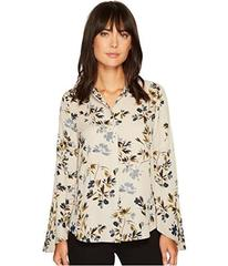 Vince Camuto Flared Sleeve Timeless Bouquet Button