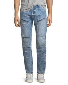 G-Star 5620 3D Tapered Rip & Repair Jeans