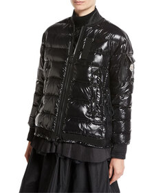 Moncler Lucy Quilted Puffer Jacket, Black
