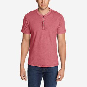 Men's Legend Wash Short-Sleeve Slub Henley Shi