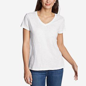 Women's Legend Wash Slub Short-Sleeve V-Neck T