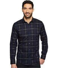 Calvin Klein Large Scale Overlapping Plaid Button