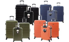 Wrangler Hardside Spinner Luggage Set with USB, Cu