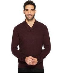 Perry Ellis Cable Shawl Pullover Sweater