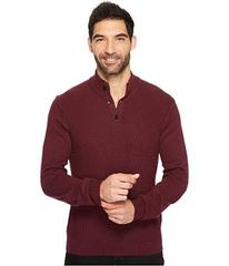 Perry Ellis Solid Textured Mock Neck Sweater