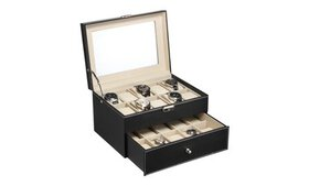 20 Slot Watch Collection Box Leather Display Case