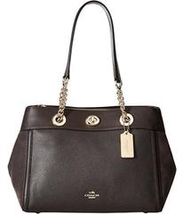 COACH Mixed Leather Turnlock Chain Edie