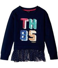 Tommy Hilfiger Kids TH85 Mixed Media Top (Big Kids