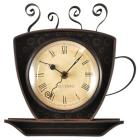 Coffee Cup Wall Shaped Wall Clock Oil Rubbed Bronz