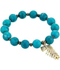 LAUREN Ralph Lauren Turquoise with Pave Feather Ch