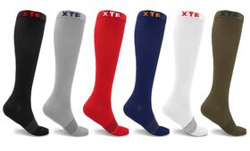XTF Solid-Color Knee-High Compression Socks (6-Pac
