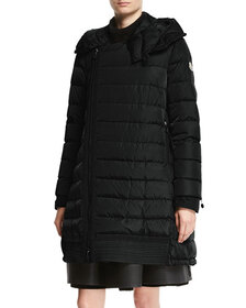 Moncler Christabel Quilted Puffer Coat, Black