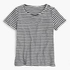 Supersoft Supima® raw-edge T-shirt in stripes