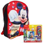 "Disney Mickey Mouse Boys Stars 15"" Backpack wi"
