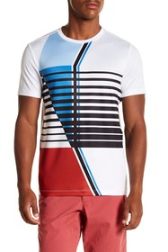 Perry Ellis Placed Graphic Crew Tee