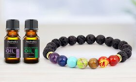 Lava Stone Diffuser Bracelet with Optional Essenti